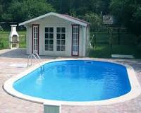Картинки дома с бассейном