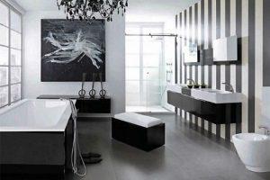 черно белая ванная фото 10