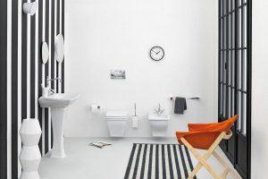 черно белая ванная фото 12