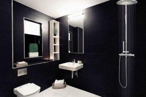 черно белая ванная фото 14