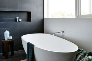 черно белая ванная фото 16
