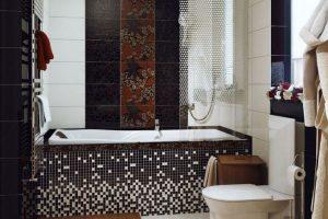 черно белая ванная фото 18