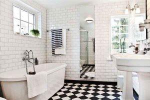 черно белая ванная фото 19