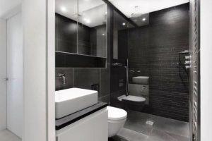 черно белая ванная фото 2