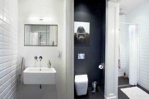 черно белая ванная фото 20