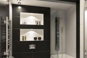 черно белая ванная фото 22