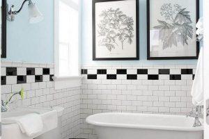 черно белая ванная фото 23