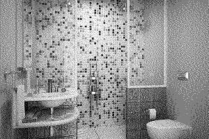черно белая ванная фото 25