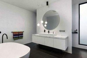 черно белая ванная фото 26