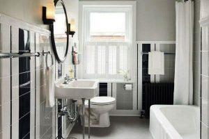 черно белая ванная фото 27
