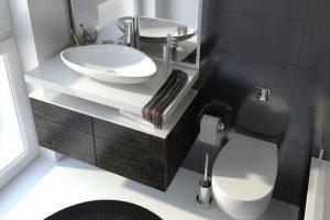 черно белая ванная фото 28