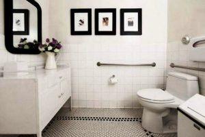 черно белая ванная фото 3