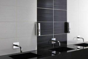 черно белая ванная фото 32