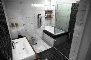 черно белая ванная фото 33