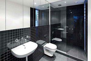 черно белая ванная фото 34