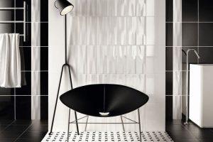 черно белая ванная фото 35