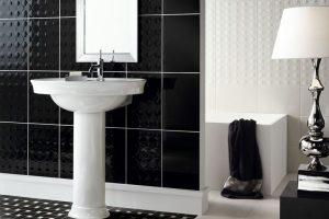 черно белая ванная фото 36