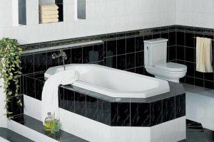 черно белая ванная фото 38