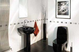 черно белая ванная фото 39