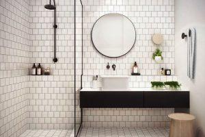 черно белая ванная фото 4