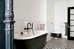 черно белая ванная фото 40