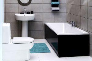 черно белая ванная фото 41