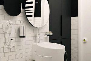 черно белая ванная фото 43