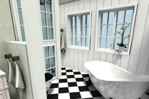 черно белая ванная фото 7