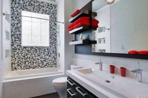 черно белая ванная фото 8