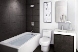 черно белая ванная фото 9