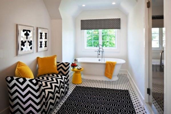 черно белый интерьер ванной комнаты фото 9