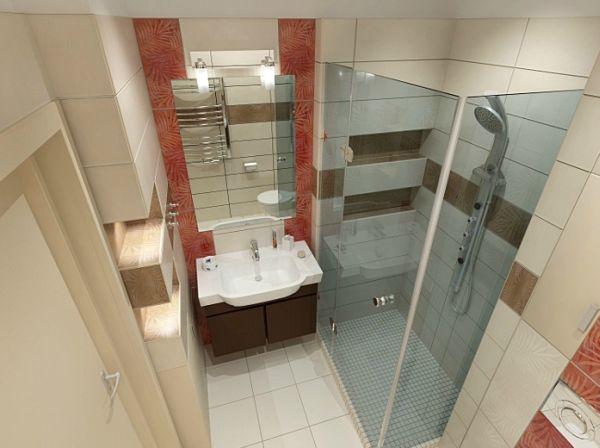 дизайн ванной комнаты фото 3 кв м без унитаза фото 2