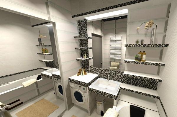 дизайн ванной комнаты в малогабаритной квартире фото