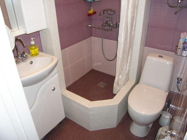дизайн маленькой ванны совмещенной с туалетом в хрущевке