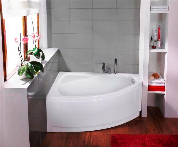 фото ванной с угловой ванной