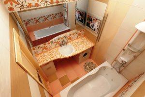 маленькая ванная комната 3 кв метра дизайн фото 12