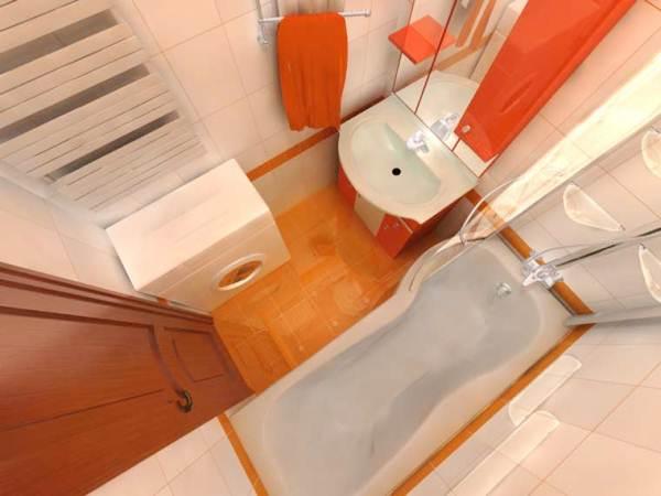 маленькая ванная комната 3 кв метра дизайн фото с ванной
