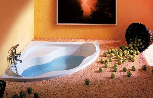 угловые ванны в интерьере фото
