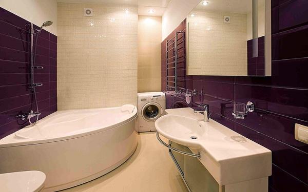 угловые ванные в интерьере фото