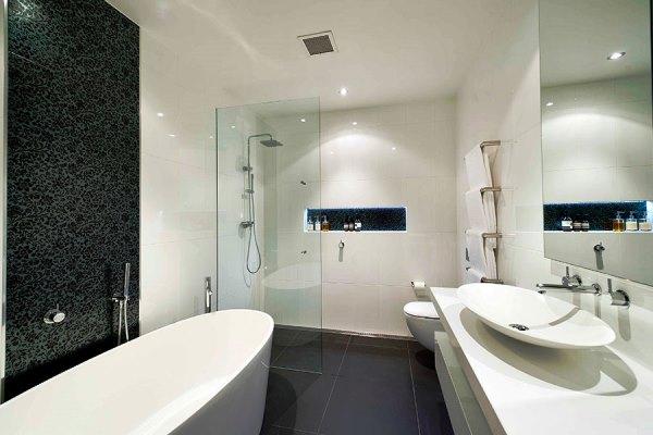 ванная комната в черно белом цвете фото