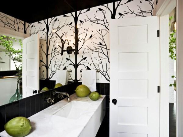 ванная в черно белом стиле фото