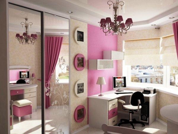 дизайн маленькой детской комнаты для девочки фото