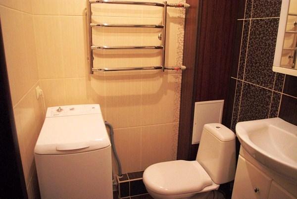 дизайн совмещенной ванны с туалетом 3 кв.м со стиральной машиной фото