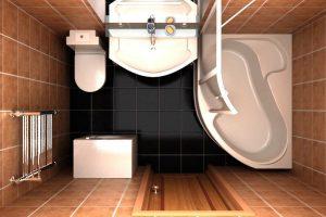 дизайн ванной с туалетом 3 кв.м фото 2