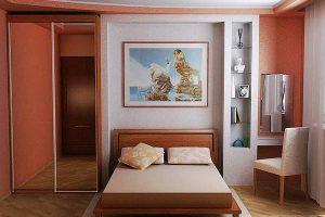 интерьер малогабаритной спальни фото 27