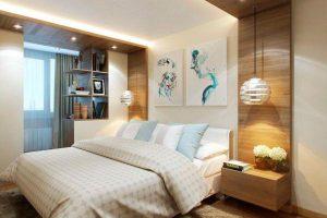 интерьер малогабаритной спальни фото 49