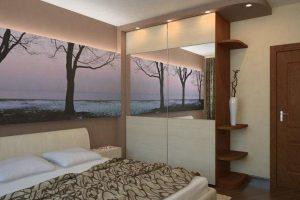 интерьер малогабаритной спальни фото 55