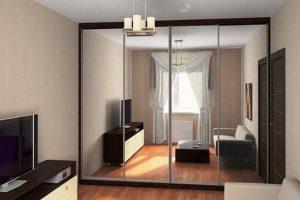 шкаф-купе в гостиную фото 33