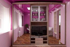 шкаф-купе в гостиную фото 35