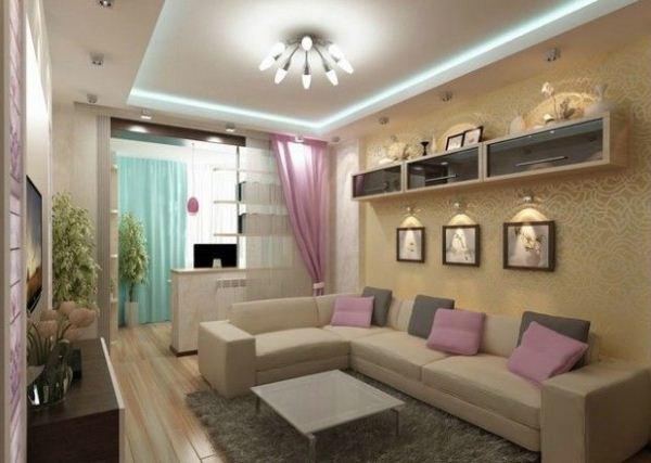бежевый цвет в интерьере гостиной фото